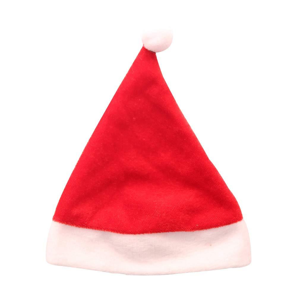 Lovewe Mini Christmas Hat, Mini Christmas Apple Wine Bottle Caps, Santa Claus Hat Table Home Xmas Gift(1/6Pc) (6Pc)