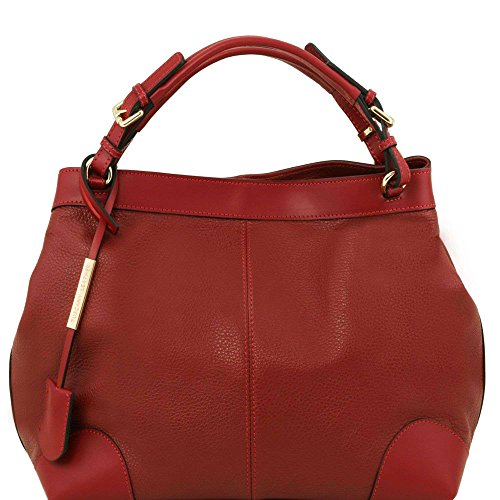 Bag One Tuscany Shoulder Leather Red Size Women's wqOFTtvC