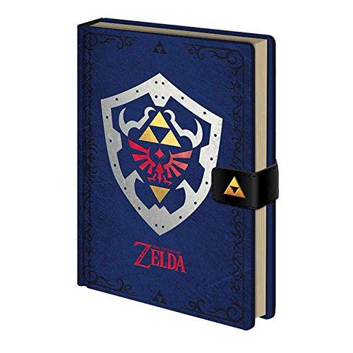 The Legend Of Zelda Notebook Hylian Shield Official Blue Premium A5 ()