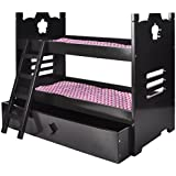 Naomi Home Kids Doll Bunk Bed with Trundle Espresso