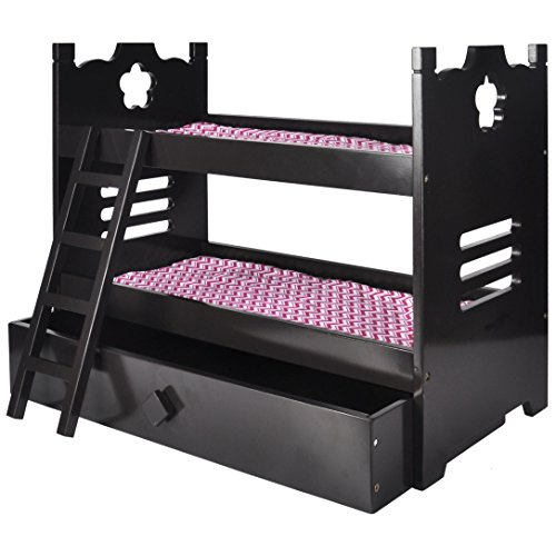 Free Shipping Naomi Home Kids Doll Bunk Bed With Trundle Espresso
