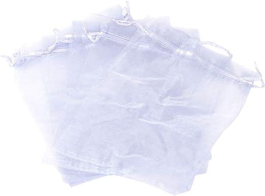 nbeads Lot de 100 Pochettes en Organza avec Cordon de Serrage 7 x 5 cm
