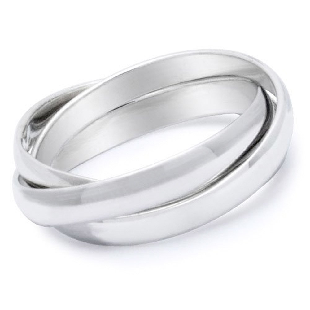 ONLY LOVE YOU - Love Ring / Promise Ring (SIZE 6) Size Width 6mm - Top Quality 316L Stainless Steel Womens Rings. Commitment / Purity Ring or Anniversary Gifts for her. I Love you Gifts. (9)