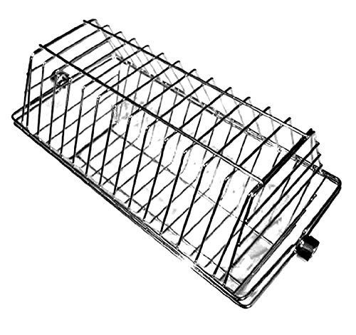 - OneGrill Stainless Hexagon Tumble Grill Rotisserie Basket - Fits Large Spit Rods