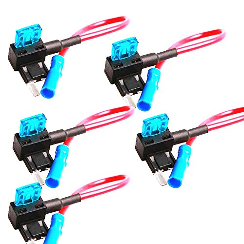 E Support 12v Car Motor Low Profile Add-a-circuit Fuse TAP Adapter Mini ATM APM Blade Fuse Holder Style