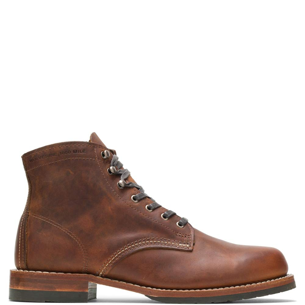 Wolverine Evans 1000 Mile Boot Men 12 Brown Leather by Wolverine