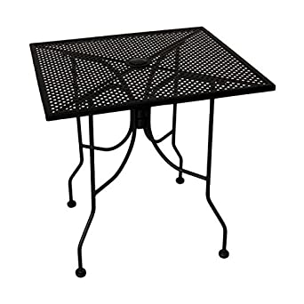 american tables seating alm3636 outdoor table square mesh top with umbrella hole. Black Bedroom Furniture Sets. Home Design Ideas