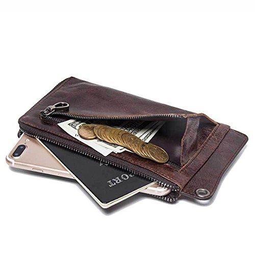 face cross zipper bag wallet hand LIGYM leather soft Men's section HPqnatUx
