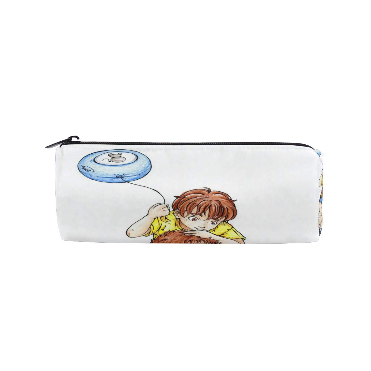 Amazon com pencil case special fathers day anime wallpaper zippered pencil box round stationery bag makeup cosmetic bag for students women office