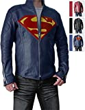 Mens Slimfit Super Blue Jacket - Synthetic Leather (3XL)