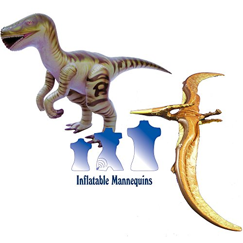 Inflatable Raptor and Pteranodon