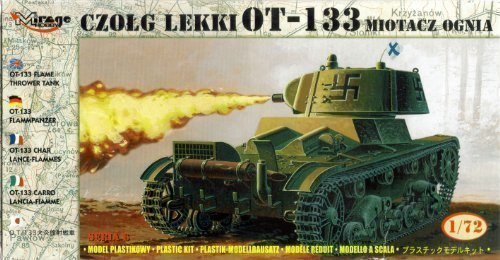 Mirage 72616, OT-133 Flame Thrower Tank, 1/72 Scale Plastic Model kit