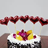 NOMSOCR 5Pcs Star Cupcake Cake Toppers Dessert Table Food Picks for Kids Birthday Party Decorations Supplies (C, 5Pcs)