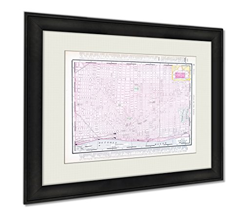 Ashley Framed Prints Color Street City Map Of Detroit Michigan Mi USA, Wall Art Home Decoration, Color, 30x35 (frame size), AG6389161 by Ashley Framed Prints