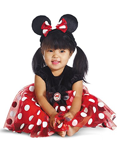 Disguise My First Disney Red Minnie Costume, Black/Red/White, 6-12 Months]()