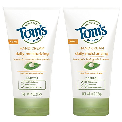 Tom's of Maine Daily Moisturizing Hand Cream, Lightly Scented, 2 Count