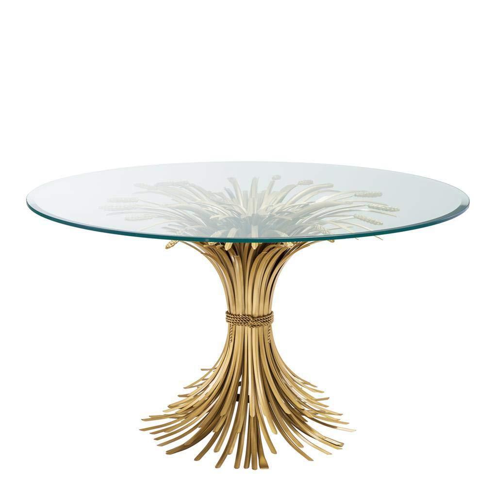 Sheaf Wheat Dining Table Eichholtz Bonheur Dazzling Gold Leaf Dining Room Table Modern Luxury Furniture Buy Online In Haiti At Haiti Desertcart Com Productid 144968680
