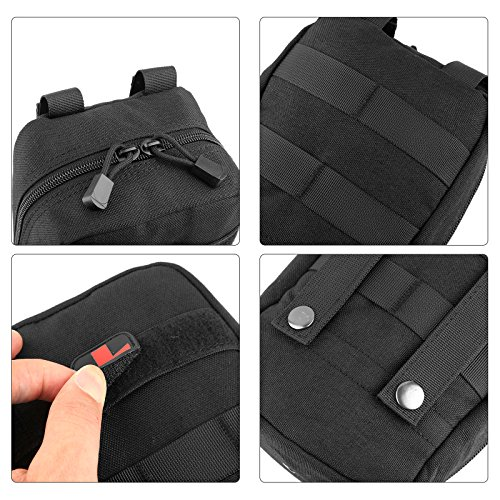 ArcEnCiel Tactical MOLLE EMT Medical First Aid IFAK Blowout Utility Pouch (Black)