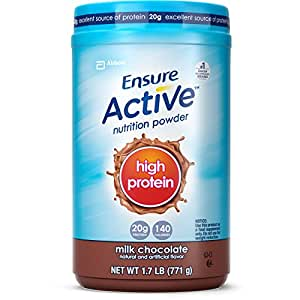 Ensure High Protein Powder, Creamy Milk Chocolate, 1.7-Pound, 19 Servings