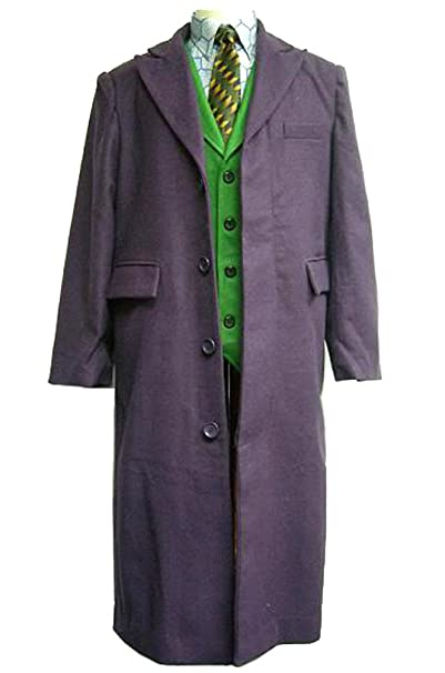 Amazon.com: Joker largo chamarra trench Dark Knight disfraz ...