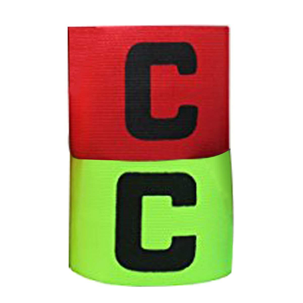 AUVSTAR Fußball-Kapitäns-Armbinde-Juniorfußball-Elastische Armbänder, Flausch für Justierbare Größe, passend für mehrfache Sport einschließlich Fußball u. Rugby, Hockey u. Gälischen Fußball