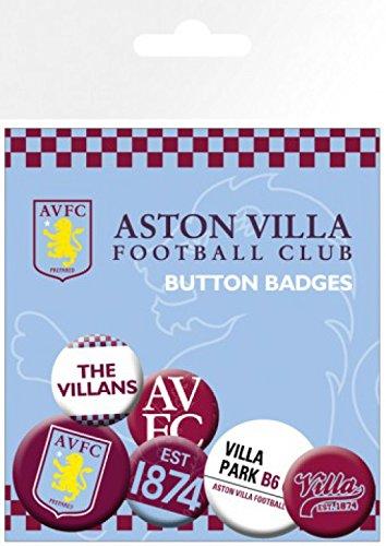 1art1® Paquet 25mm amp; Blasons Set Cm Football 32mm 4 2 Surprise De 1x Sticker Villa 15x10 Badges Aston X 7H7rw80x