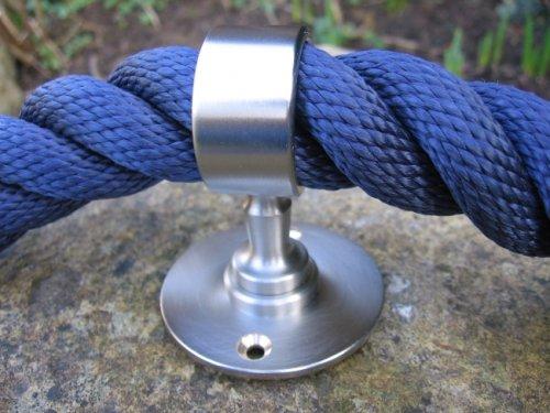 Handlauf- // Absperrseile Seiltr/äger Nickel matt f/ür 30 mm Handlaufseil