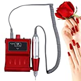 30000 RPM Nail File Drill Machine, Portable Rechargeable Grinding Polishing Buffer and Smooth Nails Device Tool Set(US Plug)