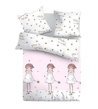 SoulBedroom Make a wish Juego de cama, 100% Algodón (funda de edredón 140x200 cm y 1 funda de almohada 50x75 cm)/cama de 90 cm (individual): Amazon.es: ...