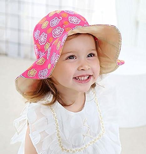 Chapeau de Seau Pliable Chapeaux de Plage en Coton Doux Chapeau de p/êcheur /à Larges Bords Gifts Treat Chapeau de Soleil d/ét/é de Filles