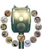 Focuspet Marderschreck, Upgrade Katzenschreck 3 Modi Automatischer Ultraschall Tiervertreiber mit Solar, Blitz, Akku für Hunde, Katze, Eichhörnchen, Ratte, Waschbären usw.