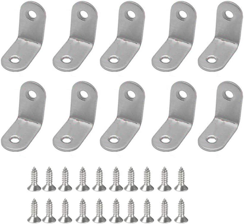 10pcs en Forma de l /ángulo de Acero Inoxidable Soporte de Esquina Tirantes Conjunto Derecho de Soporte del Estante del Soporte lafyHo 2pcs