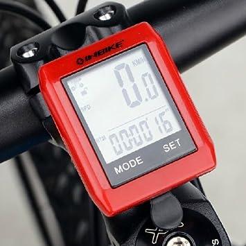 Casa de Dios INBIKE Odómetro de bicicletas, duradero resistente pantalla LCD metro de velocidad bici: Amazon.es: Deportes y aire libre