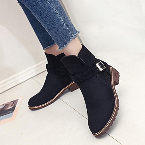 Daim Cuir Chaussures Hiver Sexy Femmes Bottine Bottes Femme pour Plates Overdose Hautes en Boots Mode Fashion Automne fwqSCXxUS