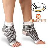 Plantar Fasciitis Compression Socks By Treat My Feet – Relief From Foot Pain, Swelling & Edema – Improves Blood Circulation, Achilles Heel & Arch Support – FDA Registered Ankle Sock (Medium - 3 Pack)