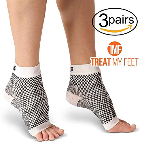 Plantar Fasciitis Compression Socks By Treat My Feet – Relief From Foot Pain, Swelling & Edema – Improves Blood Circulation, Achilles Heel & Arch Support – FDA Registered Ankle Sock - Order Usa From
