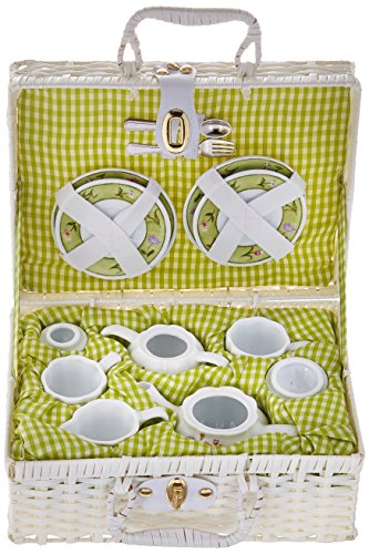 (Delton Products Bunny Large Dollies Tea Set in Basket)