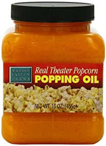 Wabash Valley Farms Real Theater Coconut Popcorn Popping Oil – Classic Popcorn Flavors to Enhance Movie Night and More – 16-Ounce Jar (Pack of 3)