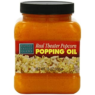 Wabash Valley Farms Real Theater Coconut Popcorn Popping Oil – Classic Popcorn Flavors to Enhance Movie Night and More – 15.25-Ounce Jar (Pack of 3)