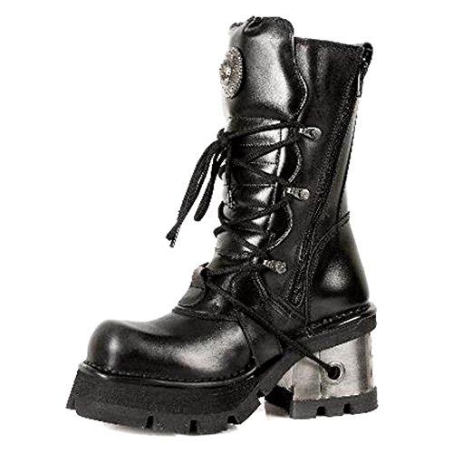 New Rock M.373.S3, Damen Stiefel & Stiefeletten  schwarz schwarz