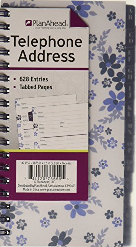 PlanAhead 73559 Telephone/Address Book; Stand Out with One of These Fun Designed Assorted Colors