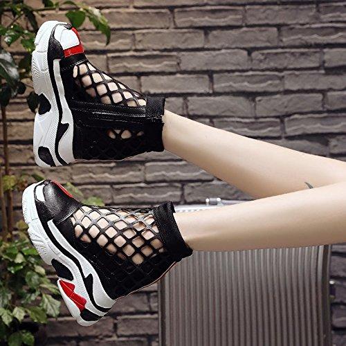NGRDX&G Damen Turnschuhe Freizeitschuhe Sport Sport Sport Schuhe Frauen Weibliche Plattform Mesh Atmungsaktiver Frauen 12 Cm High Heels Keil Reißverschluss Schuhe 7bb9fe