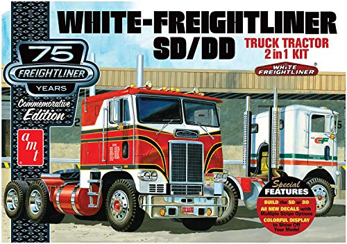 AMT AMT1046/12 1/25 White Freightliner 2-in-1 SC/DD Cabover from AMT