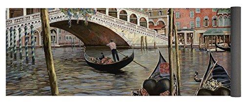 Pixels Yoga Mat w/ Bag ''Il Ponte Di Rialto'' by Pixels