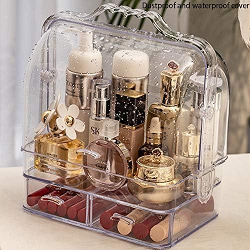 Acryl Clear Make Up Organizer, Aufbewahrungsbox Für Kosmetika, Tragbares Design, Doppelt Offenes Design, Mit Schubladenschichten, Für Schlafzimmer,
