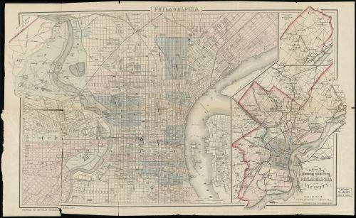 1883 Map Philadelphia - Size: 16x24 - Ready to Frame - Pennsylvania | Philadelphia | Pennsylvania - In Philadelphia Shopping Pa