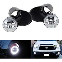iJDMTOY Complete Set 30W High Power CREE XB-D LED Halo Ring Daytime Running Lights/LED Fog Lights with Bezels & Wirings Harness For 2007-2013 Toyota Tundra