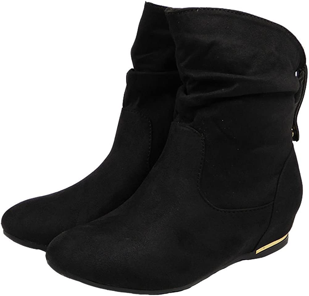 New Womens Ladies Flat Faux Suede