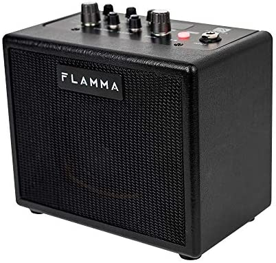 FLAMMA FA05 Electric Guitar Amp Mini Bluetooth Amplifier7 Preamp Models 40 types of Drum Machine AUX IN Support MP3 Format 5 Watt