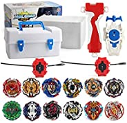 XIXI-POPOMT 12 pcs Bayblades Burst Turbo Evolution Metal Fusion Bay Blade Toys Gyro Battling Game Starter Pack